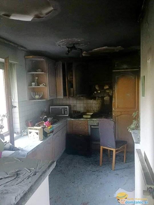 Stanovalka z gasilnikom omejila požar, ki je izbruhnil v kuhinji