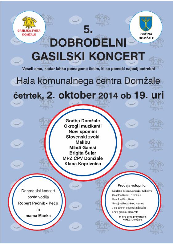 5.dobrodelni gasilski koncert GZ Domžale