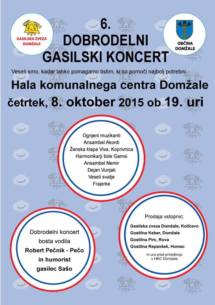 6. dobrodelni gasilski koncert